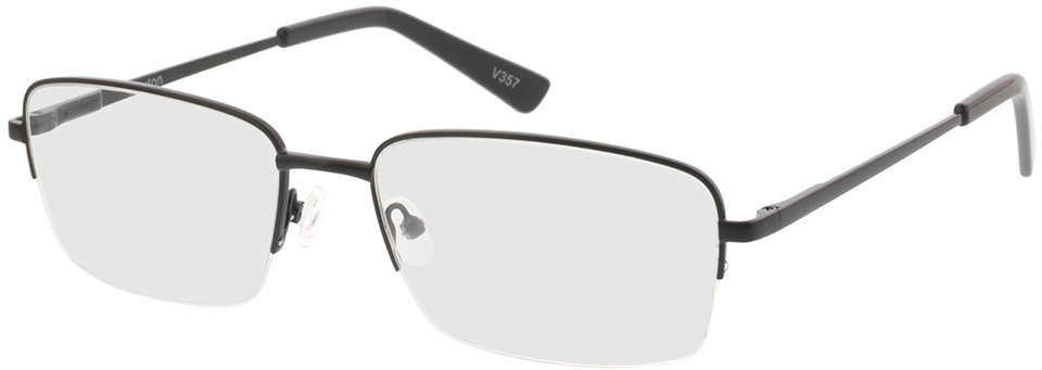 Picture of glasses model Foxton mat zwart in angle 330