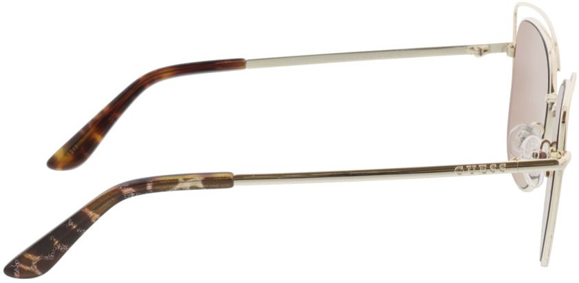 Picture of glasses model Guess GU7528 32G 56-16 in angle 90