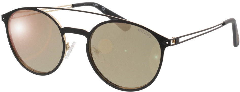 Picture of glasses model Guess GU6921 02G 53-20 in angle 330