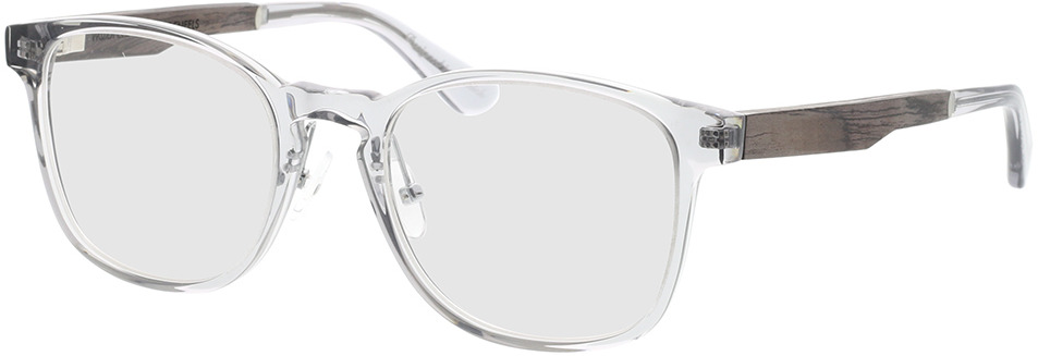 Picture of glasses model Wood Fellas Optical Friedenfels zwart oak/crystal Grijs 52-20 in angle 330