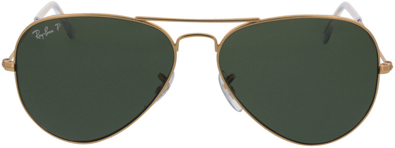 Picture of glasses model Ray-Ban Aviator RB3025 001/58 58-14 in angle 0