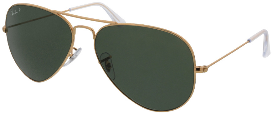 Picture of glasses model Ray-Ban Aviator RB3025 001/58 58-14 in angle 330