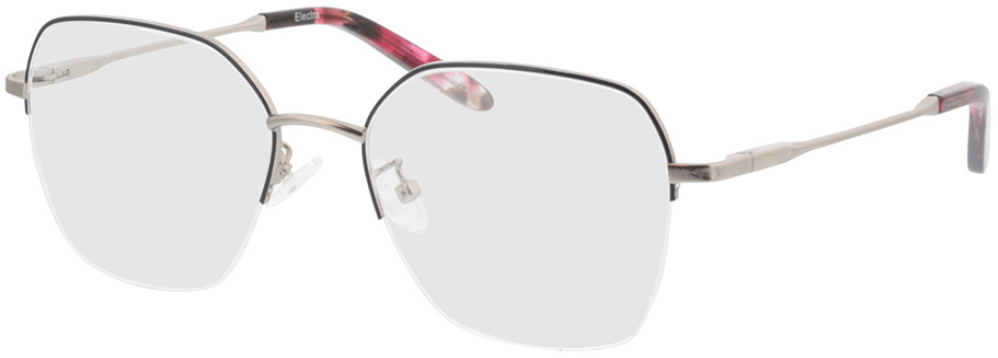 Picture of glasses model Electra zilver/blauw/roos-gevlekt in angle 330