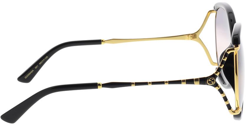 Picture of glasses model Gucci GG0594SA-001 60-17 in angle 90