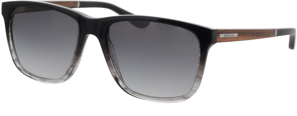 Picture of glasses model Wood Fellas Sunglasses Focus macassar/black-grey 56-18 in angle 330