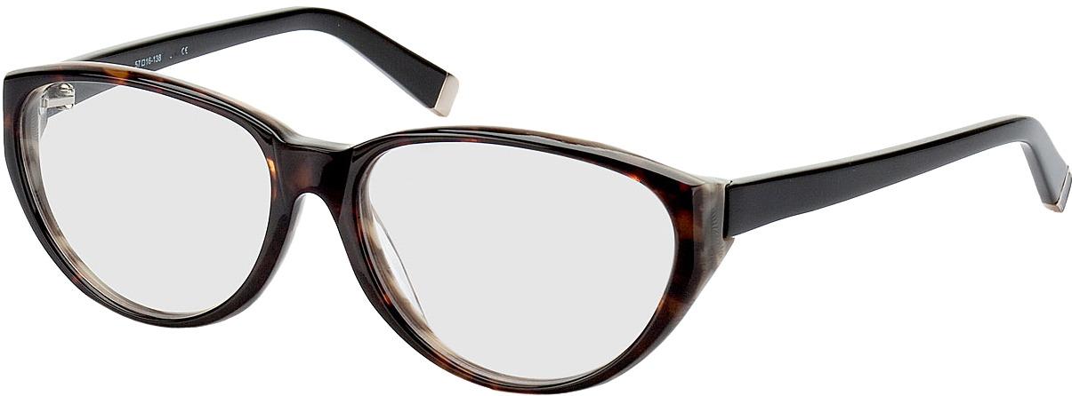 Picture of glasses model Deauville bruin/gevlekt/zwart in angle 330