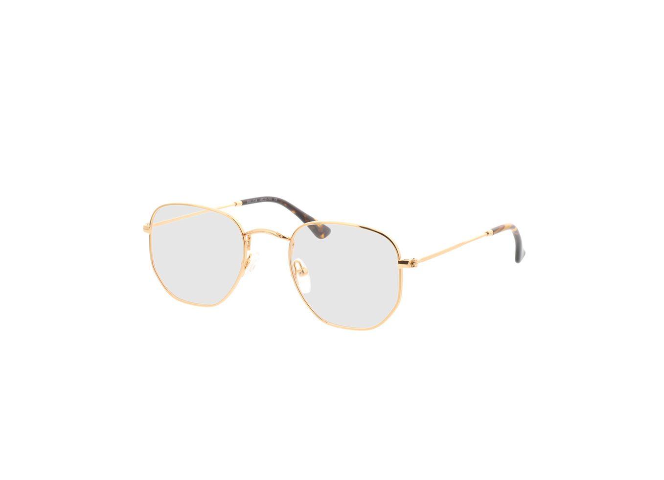 4941-singlevision-0000 Rosario-gold Gleitsichtbrille, Vollrand, Eckig Brille24 Collection