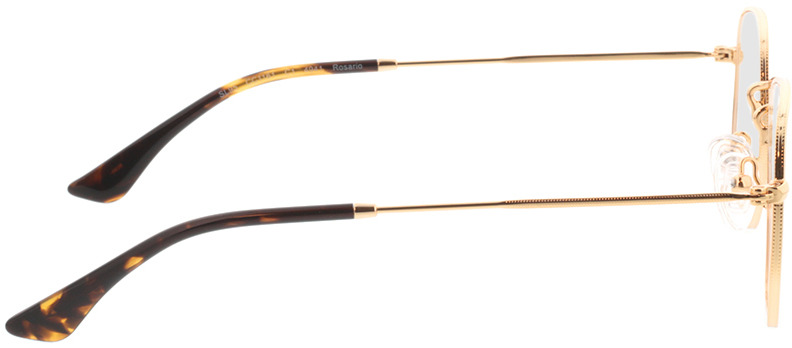 Picture of glasses model Rosario-gold in angle 90