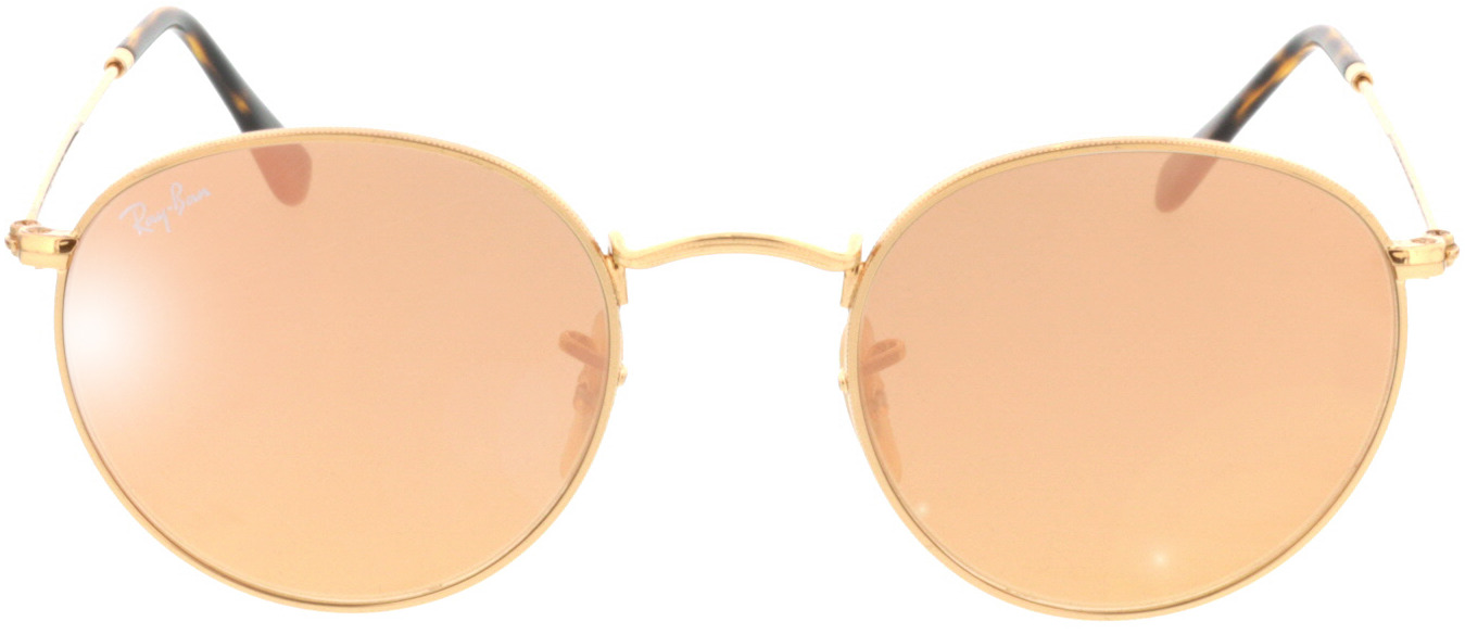 Picture of glasses model Ray-Ban Round Metal RB3447N 001/Z2 50-21 in angle 0