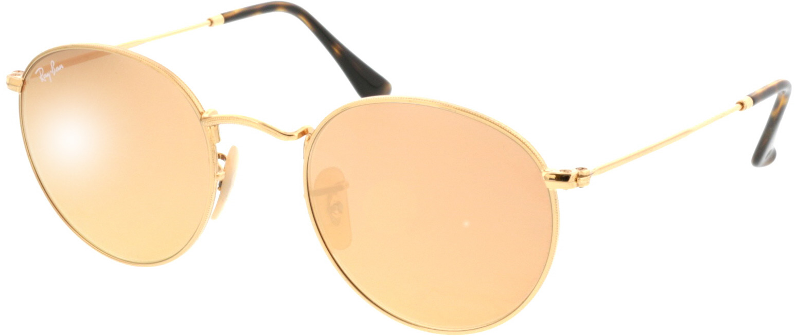 Picture of glasses model Ray-Ban Round Metal RB3447N 001/Z2 50-21 in angle 330