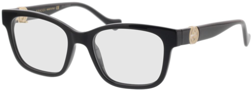 Picture of glasses model Gucci GG1025O-001 51-18 in angle 330