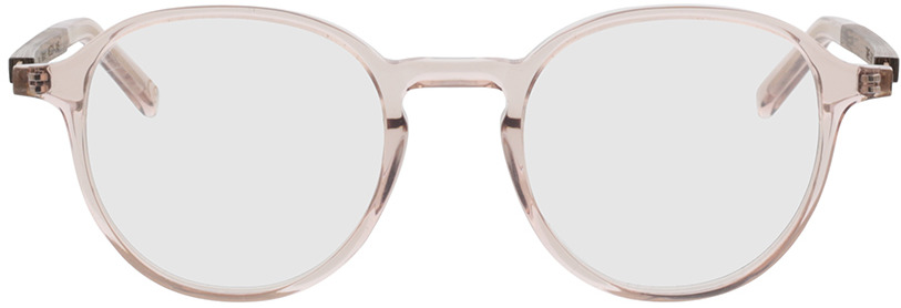 Picture of glasses model TAKE A SHOT Thisa Apricot Crystal RX: Walnussholz 48-21 in angle 0