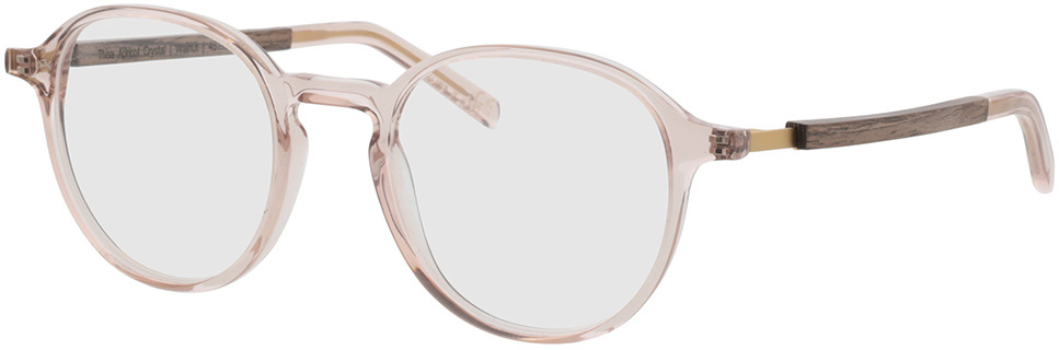 Picture of glasses model TAKE A SHOT Thisa Apricot Crystal RX: Walnussholz 48-21 in angle 330