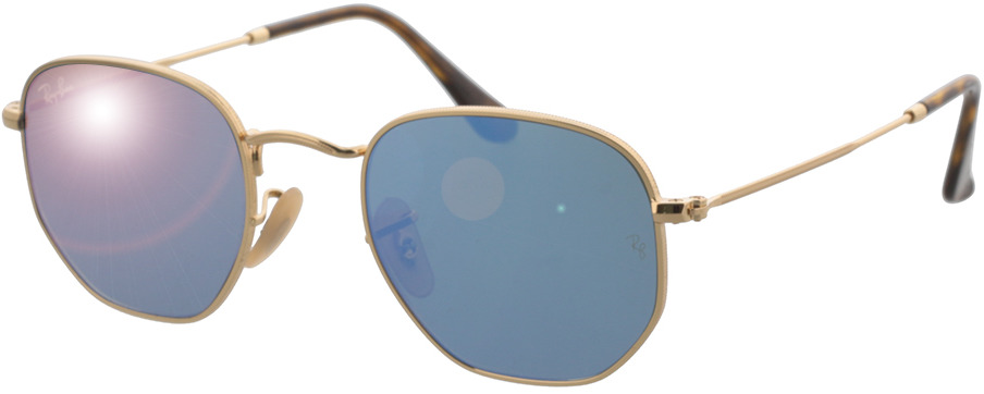 Picture of glasses model Ray-Ban RB3548N 001/9O 48-21 in angle 330