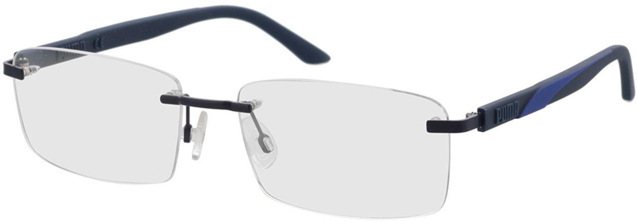 Picture of glasses model Puma PU0330O-003 58-17 in angle 330