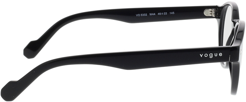 Picture of glasses model Vogue VO5332 W44 46-22 in angle 90