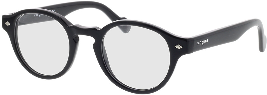 Picture of glasses model Vogue VO5332 W44 46-22 in angle 330