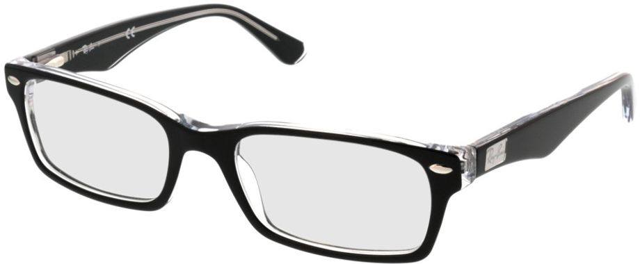 Picture of glasses model Ray-Ban RX5206 2034 52-18 in angle 330