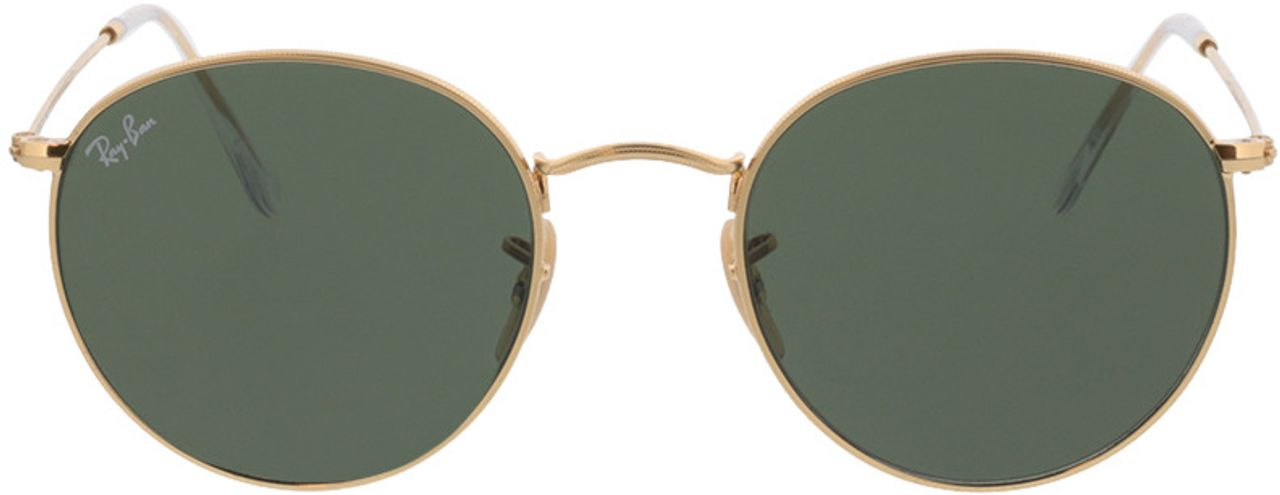 Picture of glasses model Ray-Ban Round Metal RB3447N 001 53-21  in angle 0