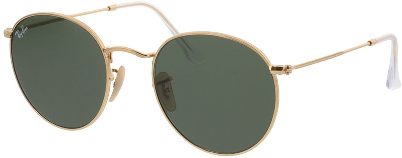 Picture of glasses model Ray-Ban Round Metal RB3447N 001 53-21  in angle 330