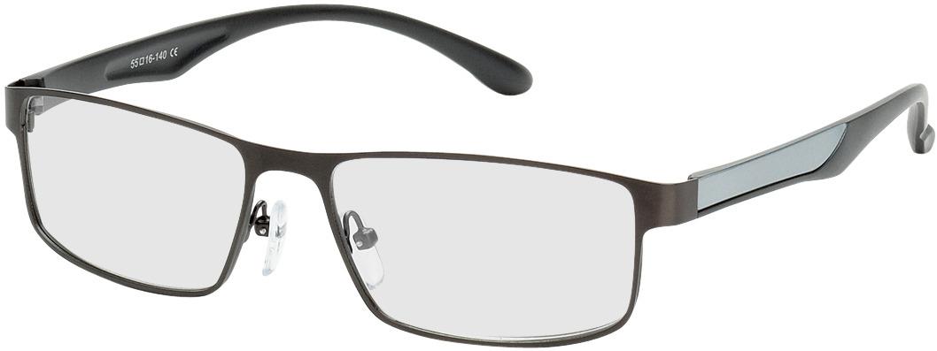 Picture of glasses model Bolton gun/silver in angle 330