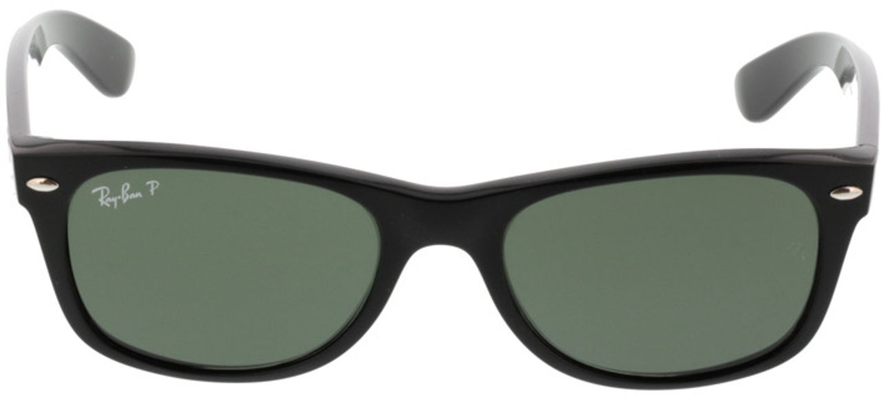 Picture of glasses model Ray-Ban New Wayfarer RB 2132 901/58 52-18 in angle 0