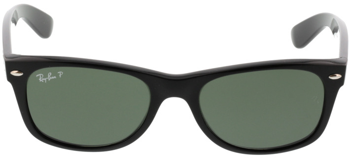 Picture of glasses model Ray-Ban New Wayfarer RB2132 901/58 52-18 in angle 0