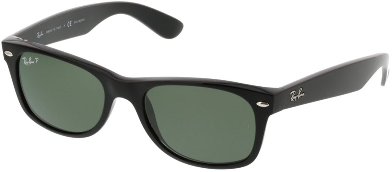 Picture of glasses model Ray-Ban New Wayfarer RB 2132 901/58 52-18 in angle 330