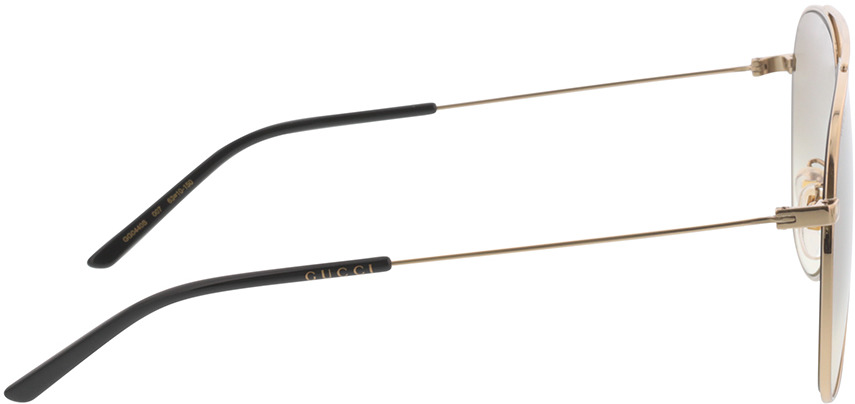 Picture of glasses model Gucci GG0440S-007 63-10 in angle 90