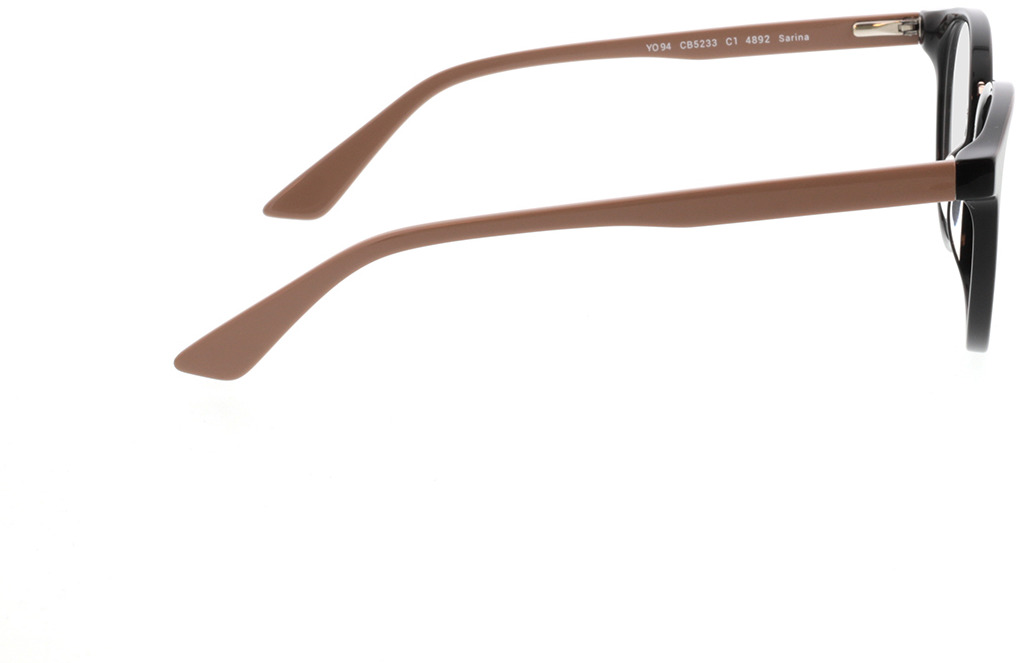 Picture of glasses model Sarina-noir/beige in angle 90