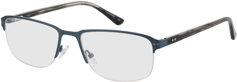 Picture of glasses model Frisco-matt blau in angle 330