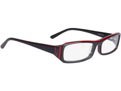 Brille Girona-schwarz/rot