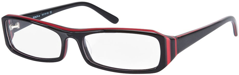 Picture of glasses model Girona-black-red in angle 330