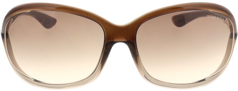 Picture of glasses model Tom Ford Jennifer FT0008 38F  in angle 0