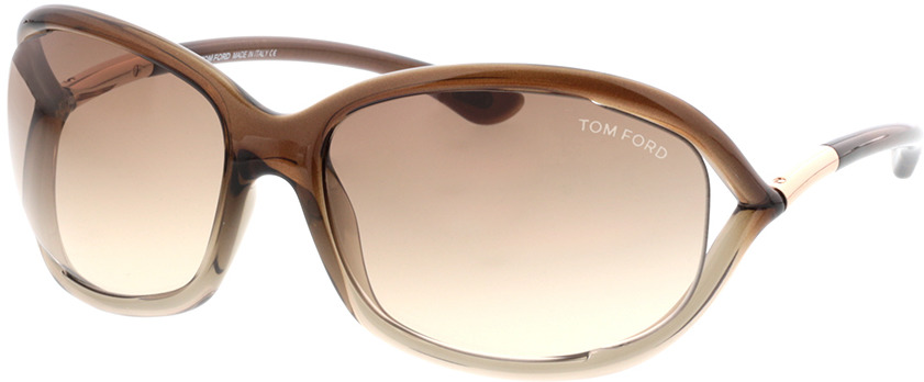 Picture of glasses model Tom Ford Jennifer FT0008 38F  in angle 330