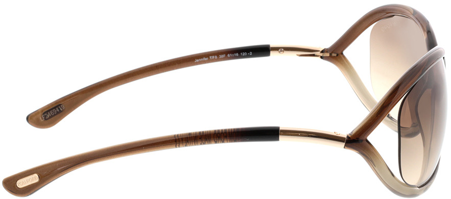 Picture of glasses model Tom Ford Jennifer FT0008 38F  in angle 90