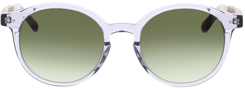 Picture of glasses model Wood Fellas Sunglasses Trostberg curled grey transparent 51-20 in angle 0