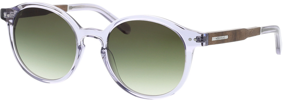 Picture of glasses model Wood Fellas Sunglasses Trostberg curled grey transparent 51-20 in angle 330