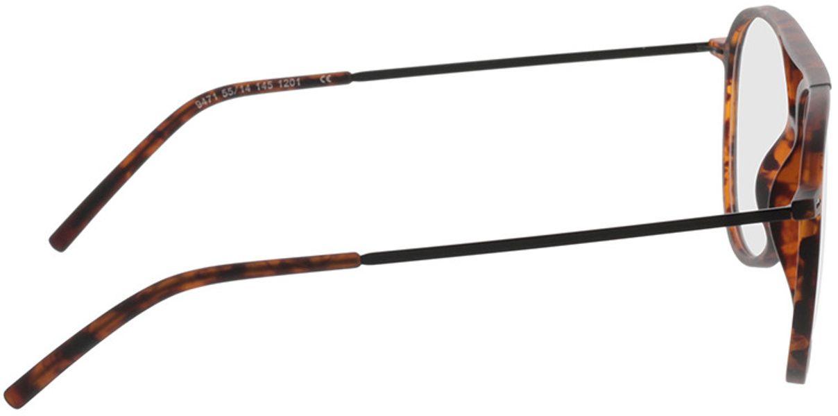 Picture of glasses model Salo-matt havana/schwarz in angle 90