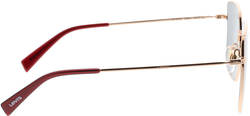 Picture of glasses model Levi's LV 1007/S DDB 56-17 in angle 90