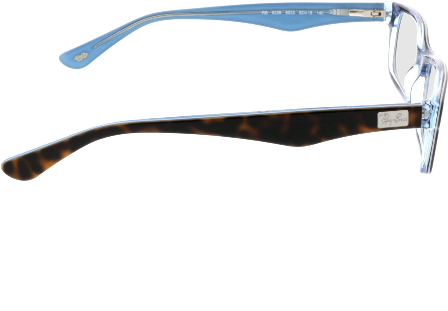 Picture of glasses model Ray-Ban RX5206 5023 52-18 in angle 90