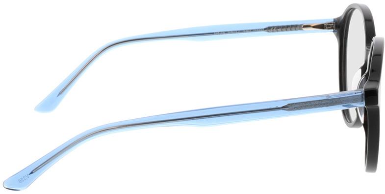 Picture of glasses model Cali-schwarz/blau-transparent in angle 90