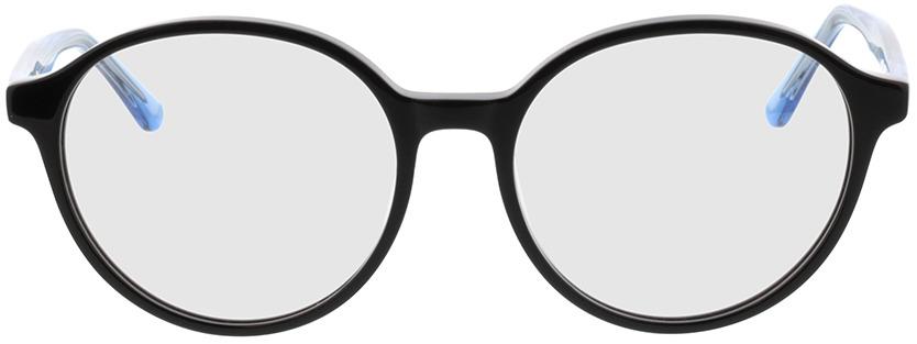 Picture of glasses model Cali-schwarz/blau-transparent in angle 0