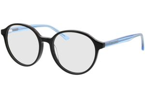 Cali-schwarz/blau-transparent