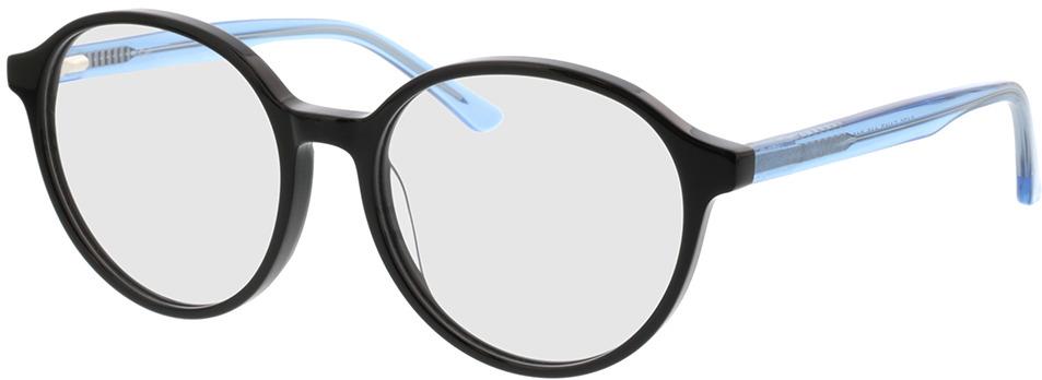 Picture of glasses model Cali-schwarz/blau-transparent in angle 330