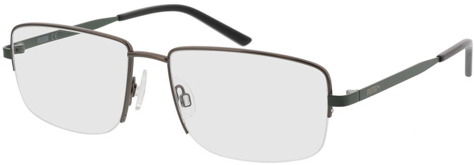 Picture of glasses model Puma PU0215O-004 57-17 in angle 330
