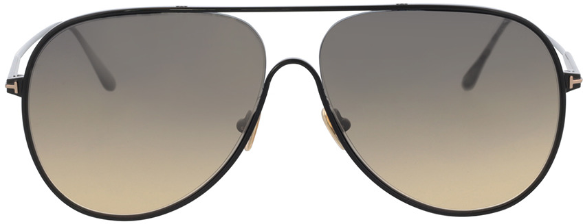 Picture of glasses model Tom Ford FT0824 01B 62 in angle 0