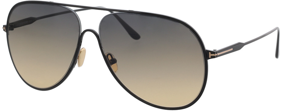 Picture of glasses model Tom Ford FT0824 01B 62 in angle 330