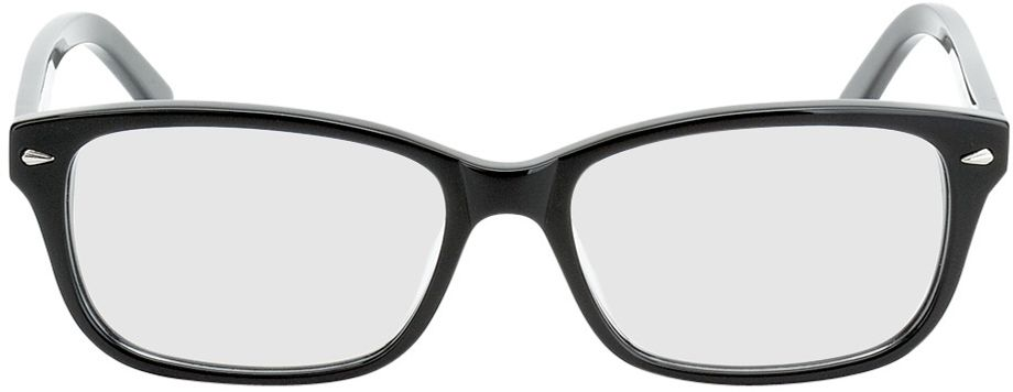 Picture of glasses model Santos-mittel-schwarz in angle 0