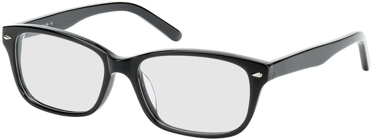 Picture of glasses model Santos-mittel-schwarz in angle 330